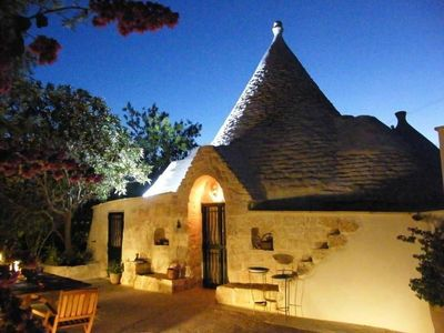 Photo for Beautiful trullo with 3 bedrooms, 3 bathrooms & private pool on 1.2 ha