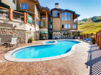 Photo for Slope Side Condo, Onsite Pool & Hot Tub, Gorgeous Summer Mountain Views!