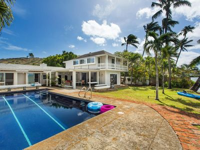 Photo for Private Oceanfront Home w/Pool, A/C, and Beautiful Sunset Views . Hale Kai