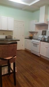 Off the kitchen is a nice big pantry with indoor washer and dryer