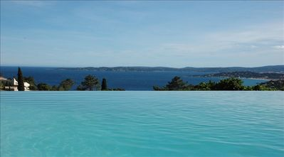 Photo for SUPERB AIR CONDITIONED VILLA WITH PANORAMIC SEA VIEW ON THE SAINT TROPEZ GOLF COURSE