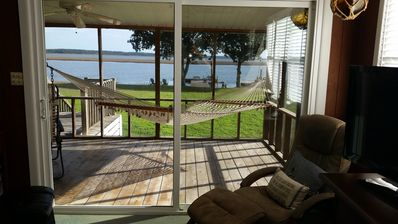 Open the doors and relax on the hammock on the screened porch