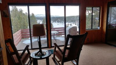 Photo for NewtoVRBO: Grand View Haven w/ lake & mtn views, 30min Pikes Peak, deck w/grill