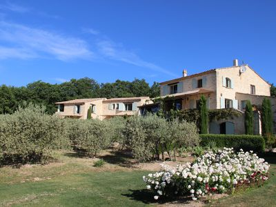 Photo for Breath taking views in Gordes with heated pool, sleeps 8 to 24
