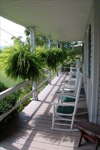 Rockers on the front porch. Read,relax,enjoy the birds or watch critters antics.