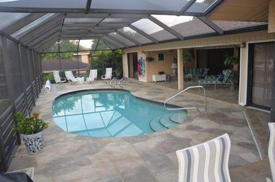 Pool under covered lanai