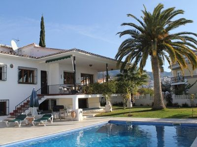 Photo for Magnificent seven bedroom detached villa in Nerja town with private pool