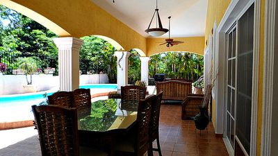 Villa with private pool and tropical garden, BBQ, internet, cable TV, near Sosua