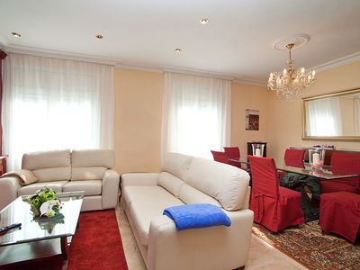 Photo for Lovely apartment for 7 guests with WIFI, A/C, TV and balcony