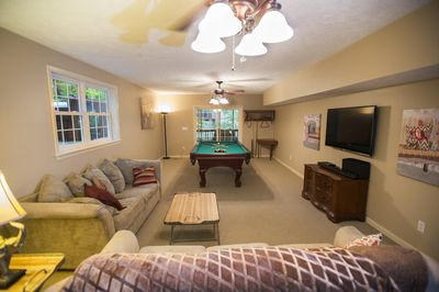 2nd Family Room with Pool Table and Bar