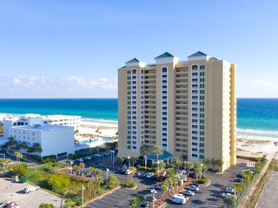 Photo for Wonderful views of Gulf from this 5th floor, Gulf front condo!