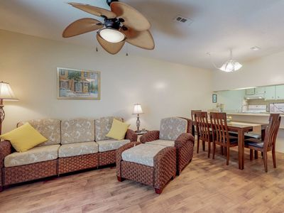 Photo for NEW LISTING! Cozy condo with private patio, near beach & dining!