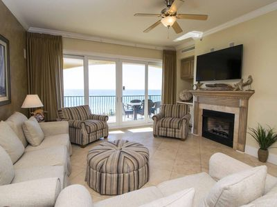 Photo for Gulf Front Adagio Condo. 2 Large Community Pools, Hot Tub, Grills & Fitness! Beach Service Included!