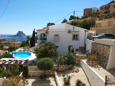Photo for Beachstyle Apartm downst villa in Calpe,4p, seaview,pool,airco,wifi,sky