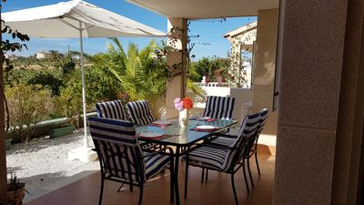 Photo for Lovely 2 bedroom ground floor apartment on Zeniamar Fase 4, Playa Flamenca