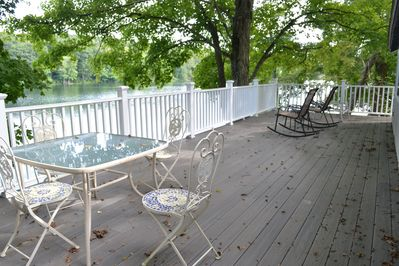 the deck on the lake