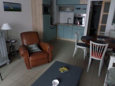 Photo for Apartment with garden 300m from the beach of kerleven