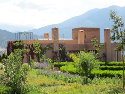 Part of the communal garden leading to Villa 7