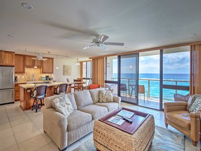 Photo for Oceanfront Poipu Condo w/ Panoramic Views & A/C!