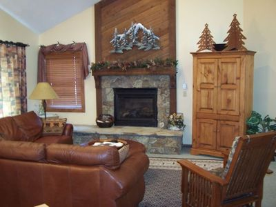 A Warm And Inviting Family Room After Skiing at Breckenridge