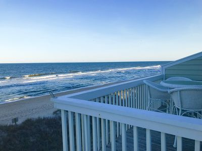 Unobstructed private ocean views from this great top floor location