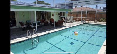 Photo for 5mins Walk to Beach Home w/ Fantastic Pool!