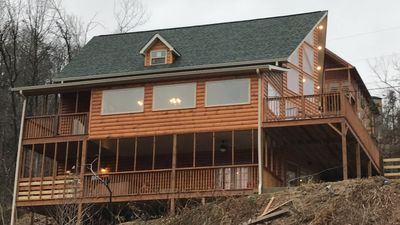 Photo for HOT DEAL,Brand New Cabin/5 Bdrm/4.5 Ba (Sauna,view,hottub,etc)call865-712-6525