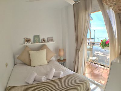 Photo for Elegant Apartment on the Seaside with Balcony, Beautiful View, Wi-Fi and Air Conditioning; Parking Available