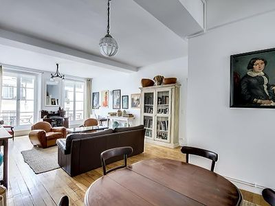 Photo for Spacious 3 BDR/ 2BTH in Montorgueuil street market