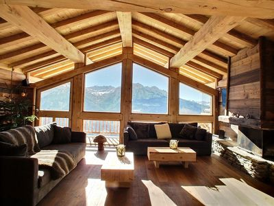 Photo for luxurious chalet in the old village of the resort of La Rosiere 1850