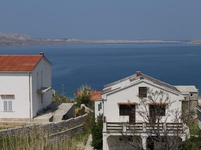 Photo for One bedroom apartment with balcony and sea view Metajna (Pag)