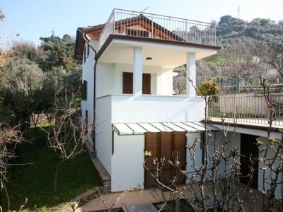 Photo for New beautiful villa, close to the sandy beach. Large terrace. Garden.