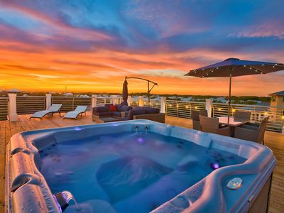 Photo for The Most Stunning Roof Top! Next to the beach, Private Salt Water Pool & Spa