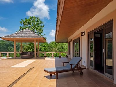 Photo for Phuket Hill Top Villa, with PRIVATE Gym, Pool, Barbeque Area and Ocean view