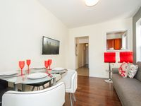 A very cute apartment, furnished nicely. We were able to host a small dinner party for some nearby
