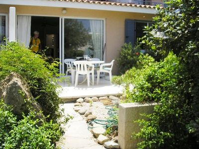 Photo for GROUND FLOOR,TWO BED OPEN PLAN APARTMENT, WIFI, INTERNET, SUNBATHING PATIO, POOL