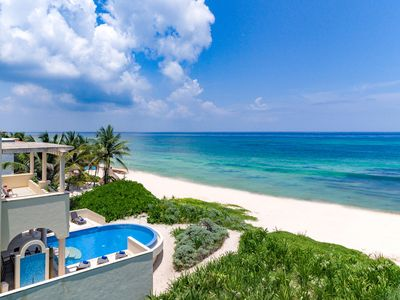 Photo for Ocean Front Private 3 Bedroom Villa in Akumal