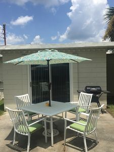 Photo for Bring your best friend to the beach - 2 Bedroom, 1 Bath pet friendly bungalow!