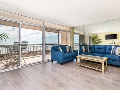 Photo for Completely updated condo w/ ocean & bay views, shared pool, & tennis court