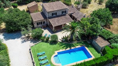 Photo for Alcadena - Rustic house with pool on the edge of Alaro