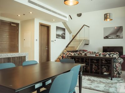 Photo for 1 Bhk Duplex Apartment In Bay Square, Business Bay
