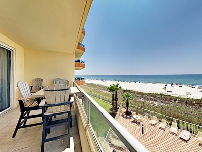 Photo for Gulf-Front 3BR: Indoor/Outdoor Pools, Tennis, Grills & Private Beach Access
