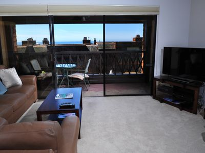 Photo for Large Ocean View 2 Bedroom Seapoint - Walk to Torrey Pines State Beach - Pool