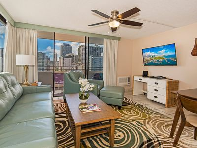 Photo for AMAZING Waikiki Skytower Condo - Close Walk to Everything!
