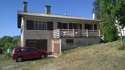 Photo for Furnished apartment of spacious tourism 70 m2 + large terrace in full nature