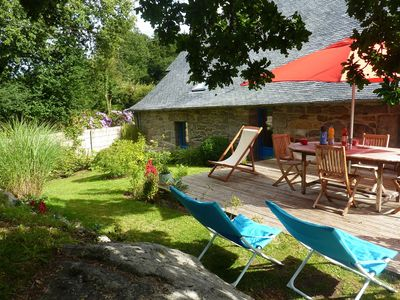 Photo for 17th century Breton cottage with modern interior on the edge of a forest.