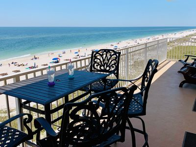 Photo for Gulf Front: Beaches Open! Beautiful, Updated Luxury West Corner Unit