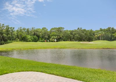 View of the golf course.