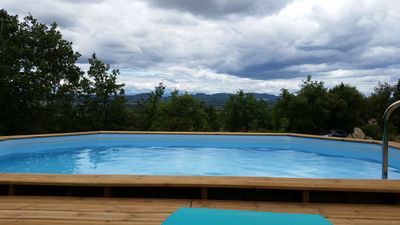 Photo for Very nice Mazet with pool and panoramic views of the Cevennes
