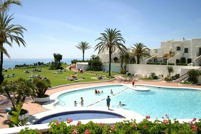 -	Main pool near the beach